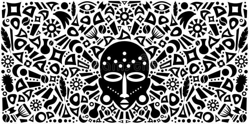Afrikaanse Abstracte Stammenillustratie royalty-vrije illustratie