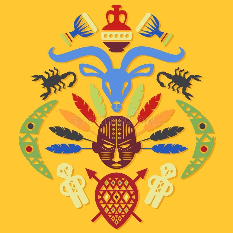 Afrikaanse Abstracte Stammenillustratie vector illustratie