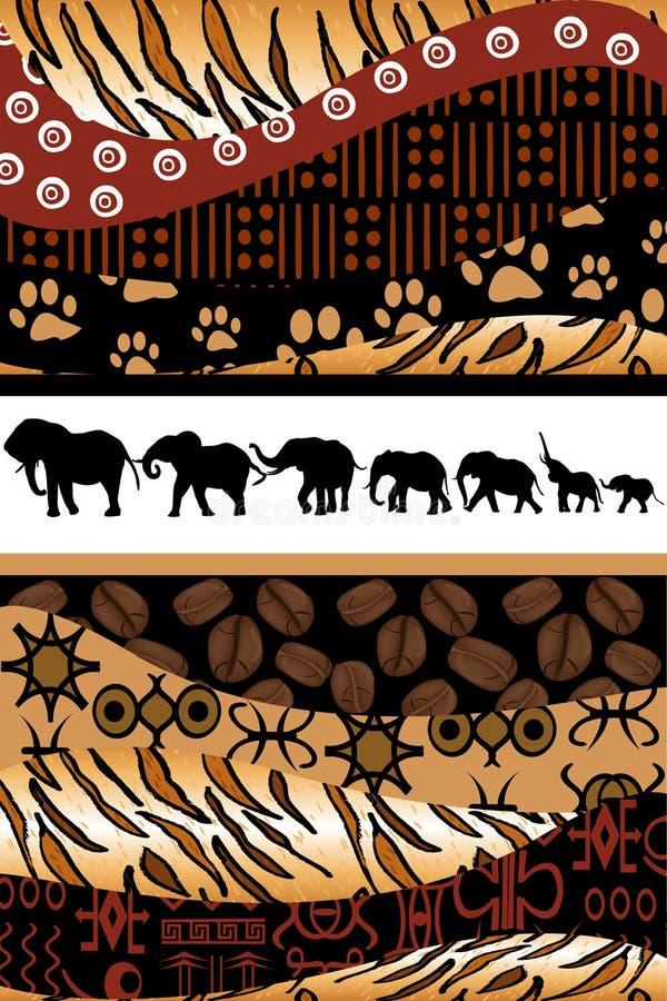 Afrikaanse achtergrond die van etnische motieven wordt gemaakt stock illustratie