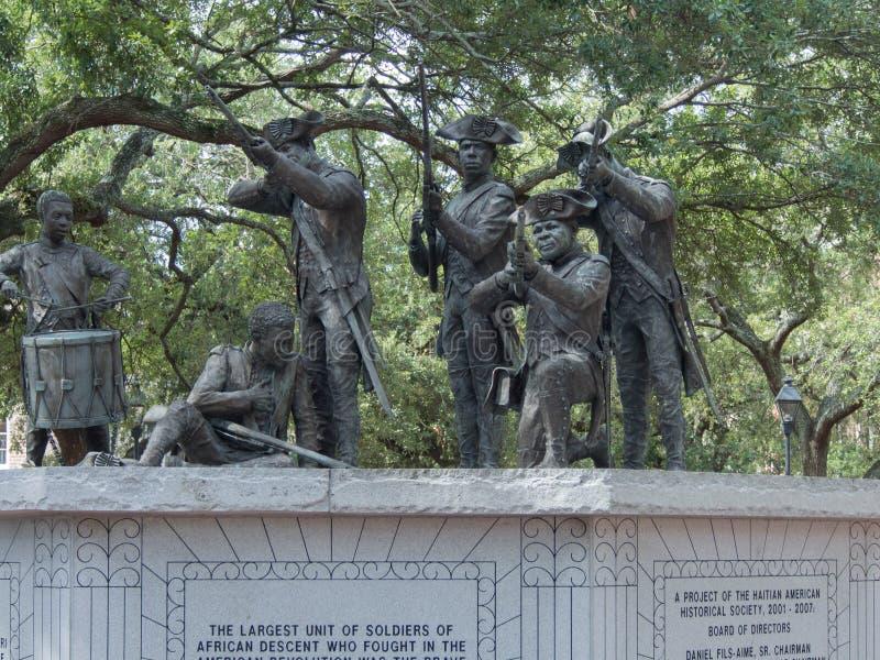 Afrikaanse Afdalingsmilitair Statue royalty-vrije stock afbeelding