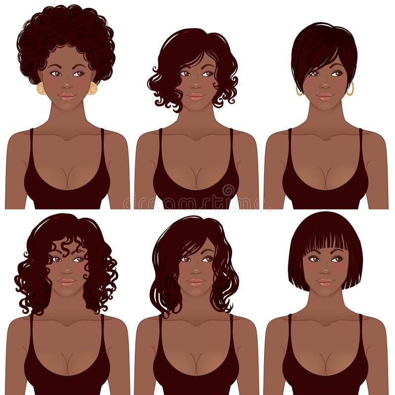 Afrikaanse Amerikaan en Kapsels vector illustratie