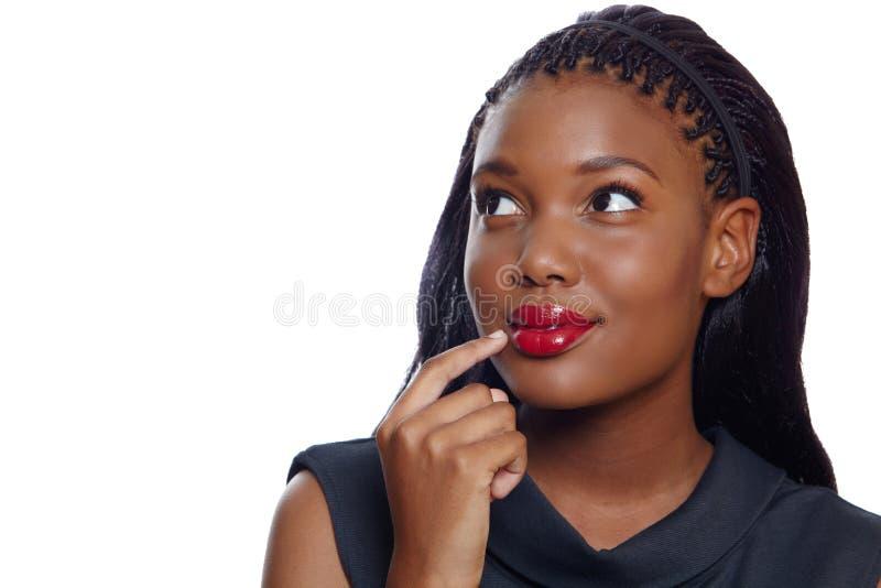 Afrikaanse Amerikaanse bedrijfsvrouw stock foto