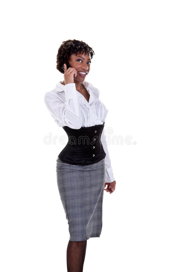 Afrikaanse Amerikaanse BedrijfsVrouw royalty-vrije stock afbeelding