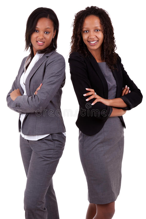 Afrikaanse Amerikaanse bedrijfsvrouwen met royalty-vrije stock foto's