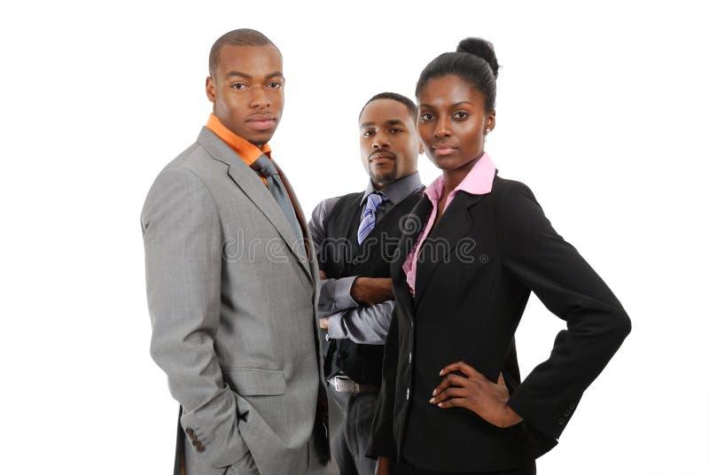 Afrikaanse Amerikaanse commerciële team status royalty-vrije stock foto's