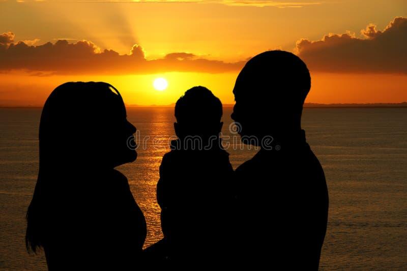 Afrikaanse Amerikaanse Familie royalty-vrije stock afbeeldingen