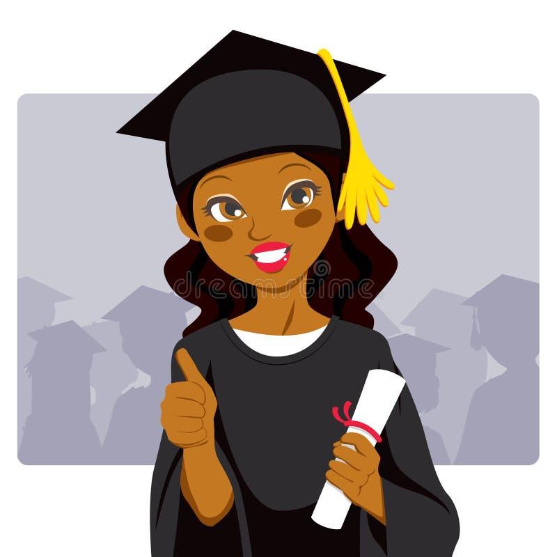 Afrikaanse Amerikaanse Gediplomeerde royalty-vrije illustratie