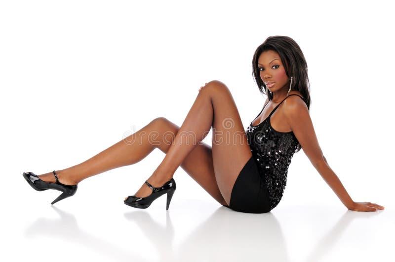 Afrikaanse Amerikaanse jonge vrouw royalty-vrije stock foto