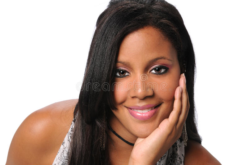 Afrikaanse Amerikaanse Onderneemster Smiling royalty-vrije stock foto