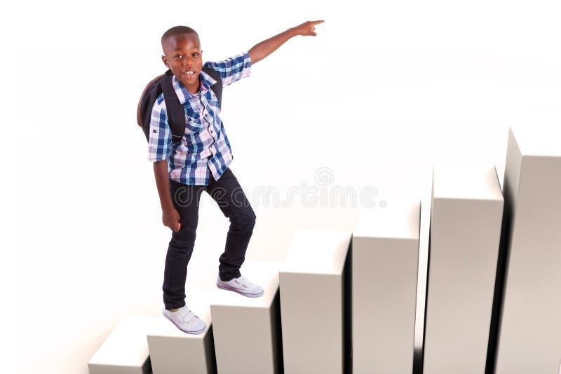 Afrikaanse Amerikaanse schooljongen - Zwarte mensen stock foto's