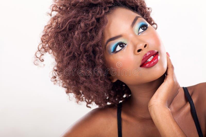 Afrikaanse Amerikaanse schoonheid royalty-vrije stock afbeelding