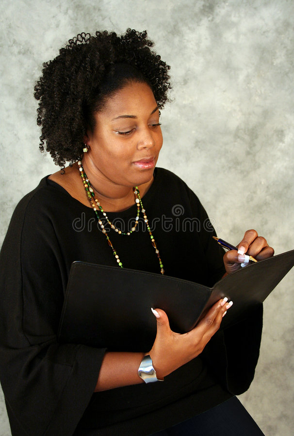 Afrikaanse Amerikaanse Schrijver stock foto