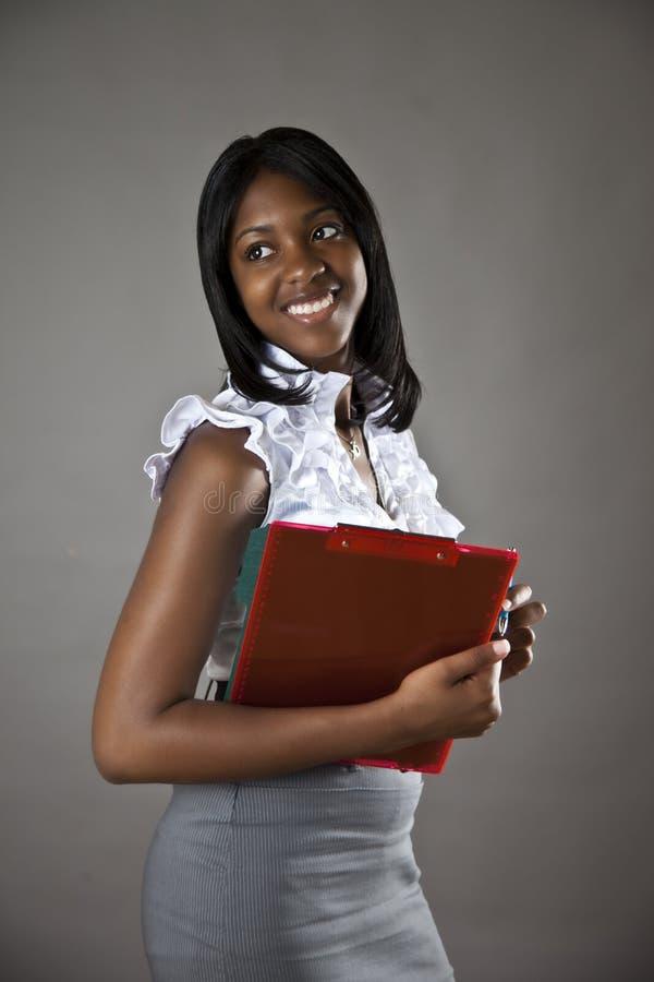 Afrikaanse Amerikaanse student royalty-vrije stock afbeeldingen