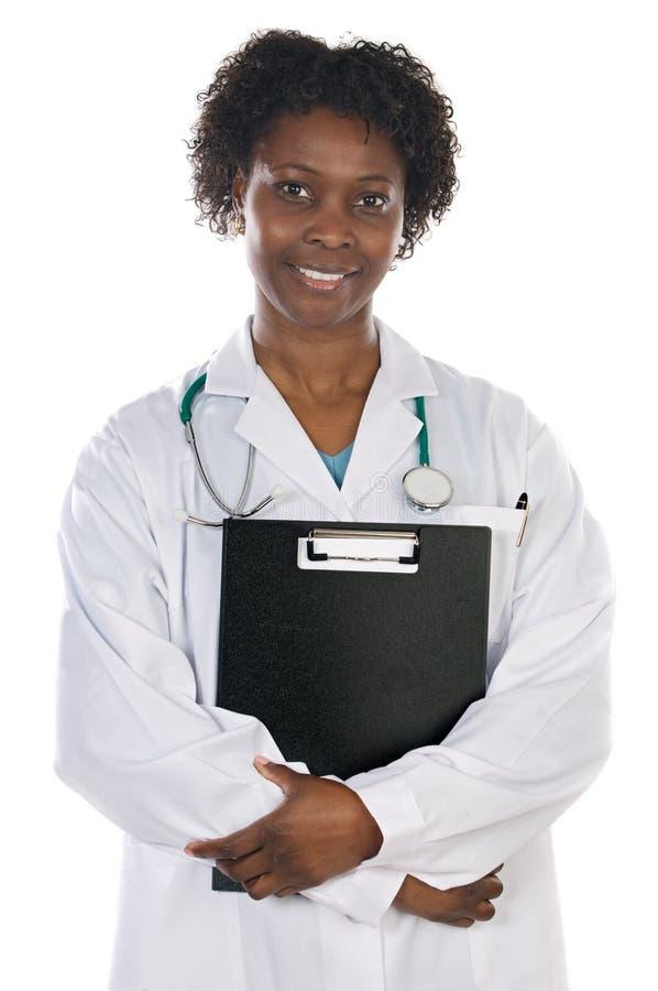 Afrikaanse Amerikaanse vrouw arts stock afbeeldingen