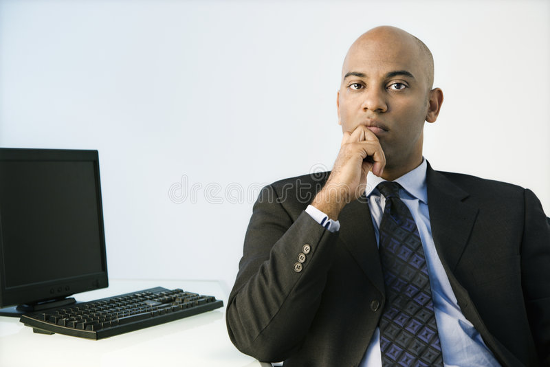 Afrikaanse Amerikaanse zakenman. stock foto