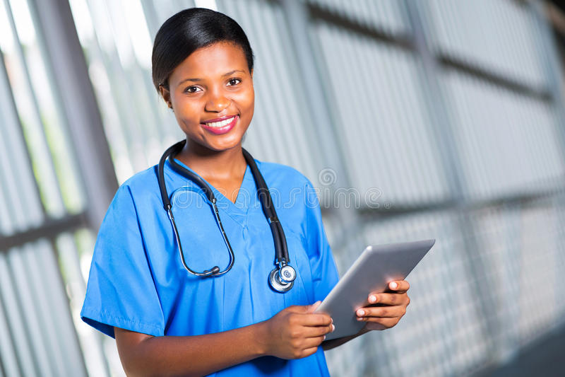 Afrikaanse artsentablet stock afbeelding