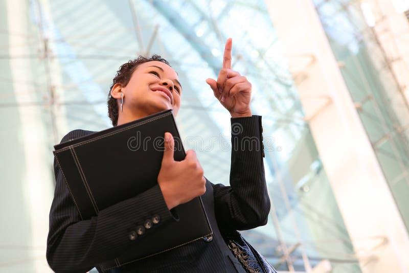 Afrikaanse BedrijfsVrouw stock afbeeldingen