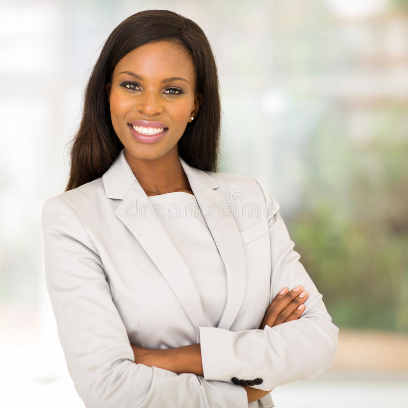 Afrikaanse bedrijfsvrouw stock foto's