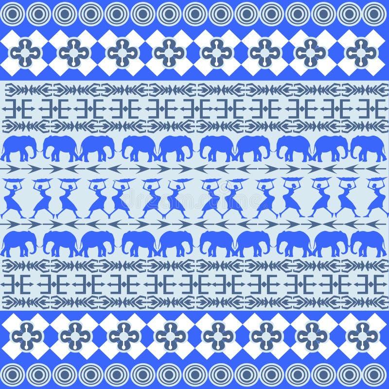 Afrikaanse blauwe textuur stock illustratie