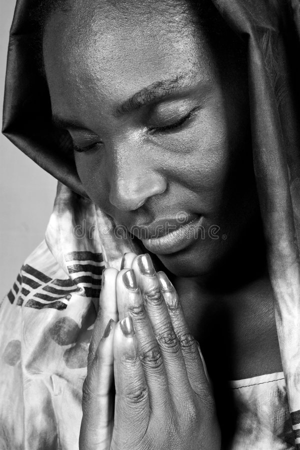Afrikaanse Christelijke vrouw royalty-vrije stock afbeelding