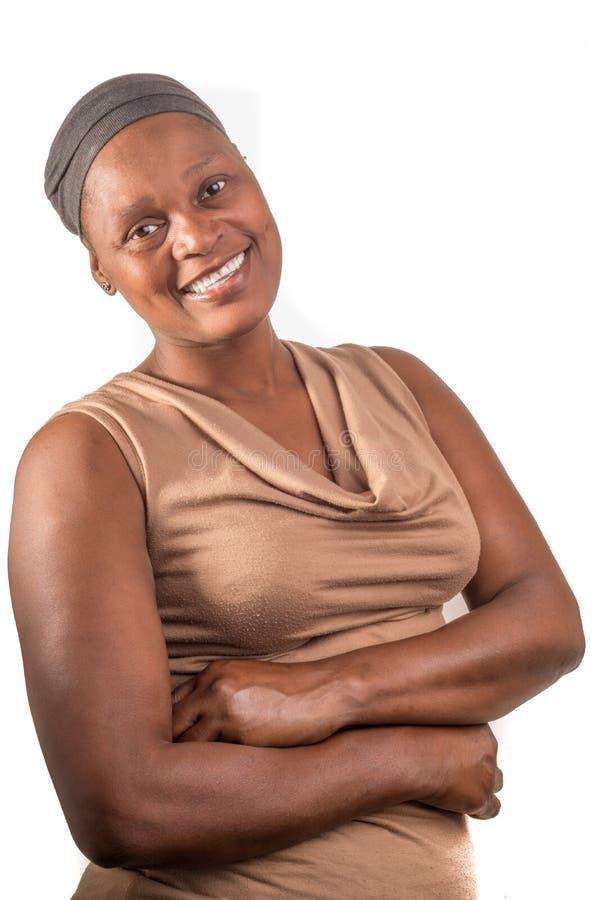 Afrikaanse Dame Portrait stock fotografie