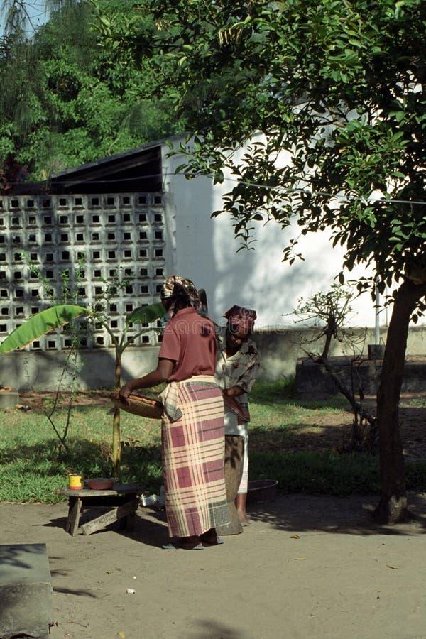 Afrikaanse dames, Inhambane, Mozambique royalty-vrije stock foto