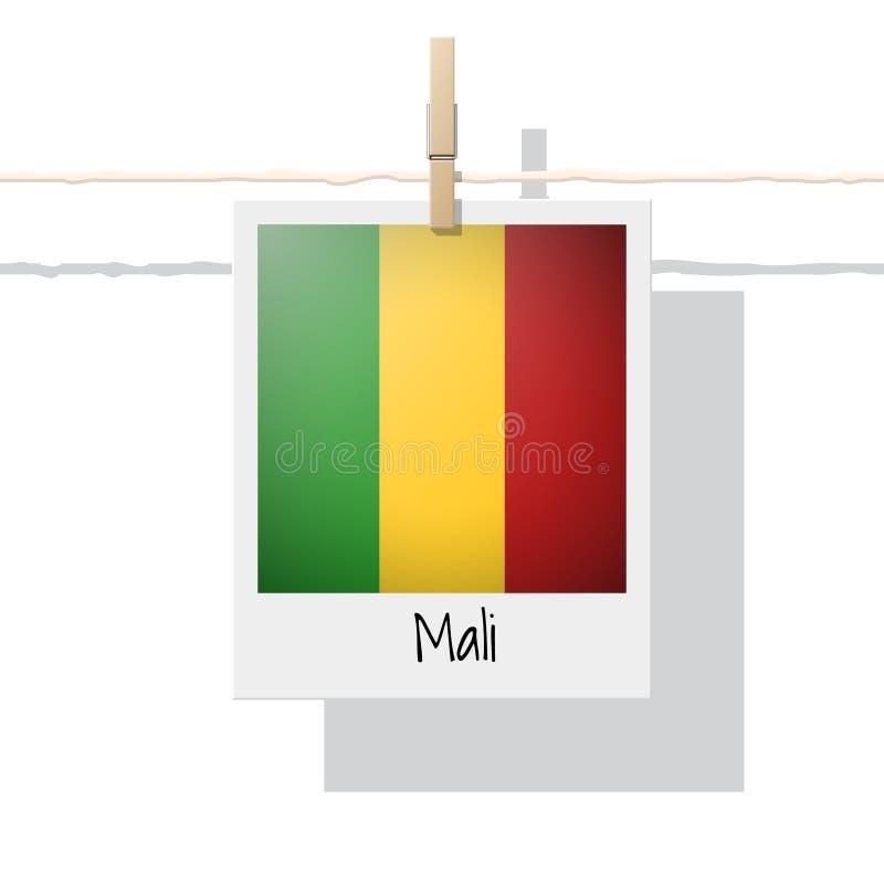 Afrikaanse de vlaginzameling van het land met foto van de vlag van Mali royalty-vrije illustratie