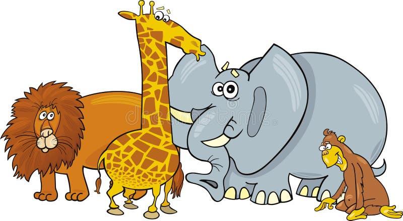 Afrikaanse dieren stock illustratie