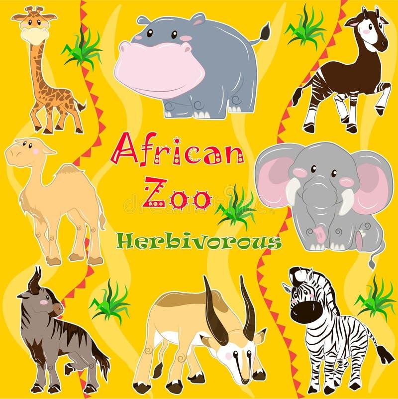 Afrikaanse dierentuin Herbivoor dieren royalty-vrije illustratie