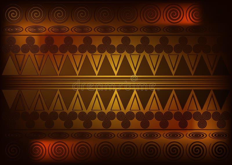 Afrikaanse Drukstof, Etnisch met de hand gemaakt ornament voor uw ontwerp, Etnische en stammenmotieven geometrische elementen Vec royalty-vrije illustratie