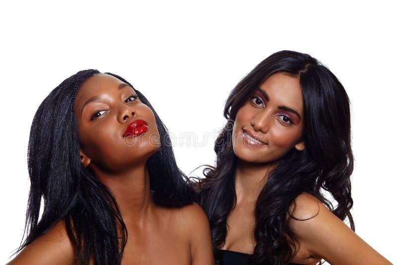 Afrikaanse en Indische schoonheid royalty-vrije stock fotografie