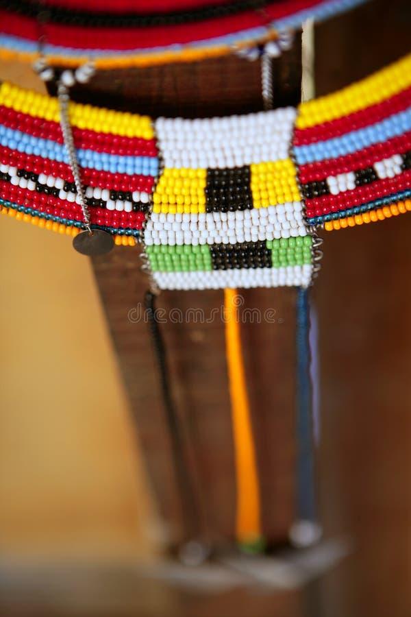 Afrikaanse etnische kleurrijke juwelenhalsbanden stock afbeelding