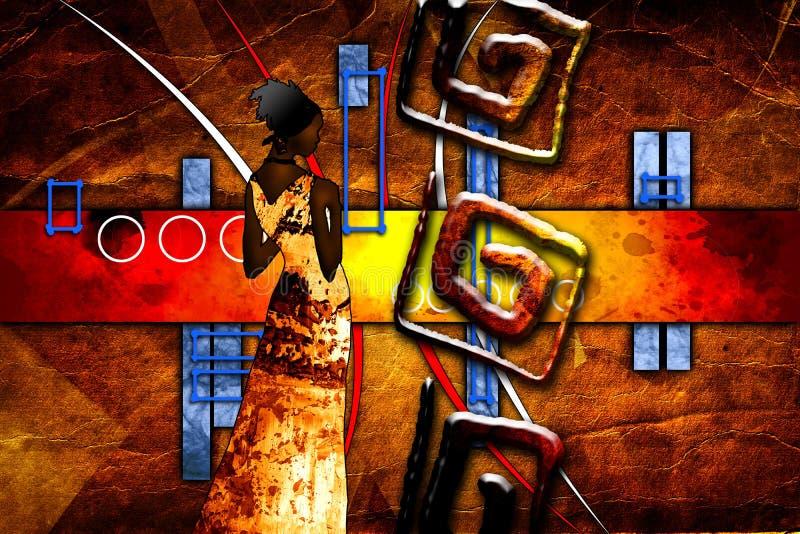 Afrikaanse etnische retro uitstekende illustratie stock illustratie