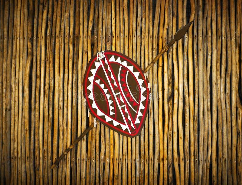 Download Afrikaanse Etnische Stamschild & Spear Stock Afbeelding - Afbeelding bestaande uit mooi, etnisch: 54075097