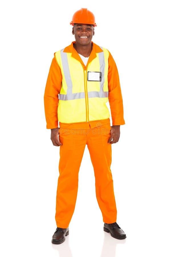 Afrikaanse fabrieksarbeider royalty-vrije stock foto
