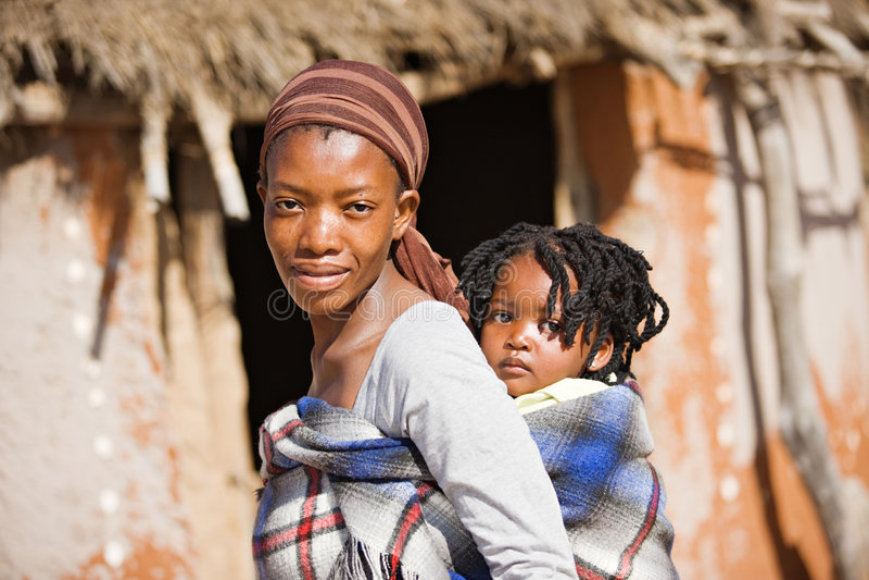 Afrikaanse familie royalty-vrije stock afbeeldingen