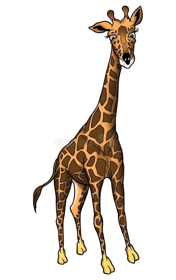 Afrikaanse giraf vector illustratie