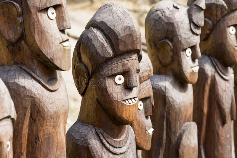 Afrikaanse houten standbeelden royalty-vrije stock fotografie