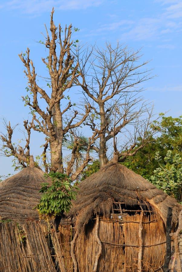 Afrikaanse hut stock foto