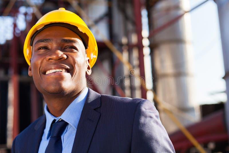 Afrikaanse industriële manager royalty-vrije stock foto