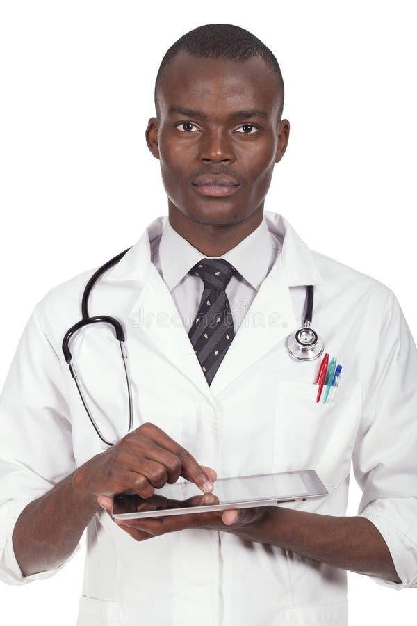 Afrikaanse jonge arts royalty-vrije stock afbeeldingen