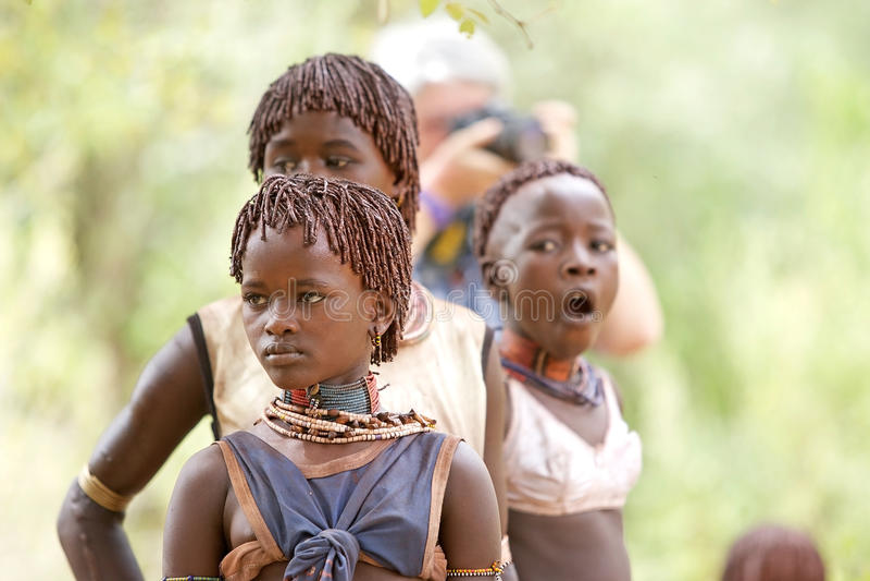 Afrikaanse jonge vrouw royalty-vrije stock afbeeldingen