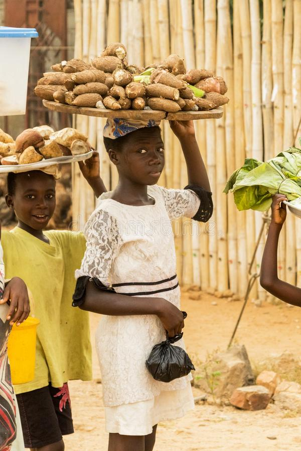 Afrikaanse kinderen in Ghana stock foto's