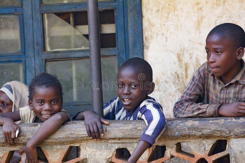 Afrikaanse kinderen van Oeganda royalty-vrije stock foto