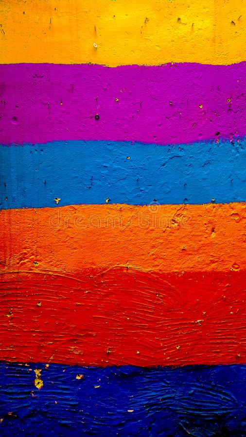 Afrikaanse kleurrijke muur in Fez stock afbeeldingen