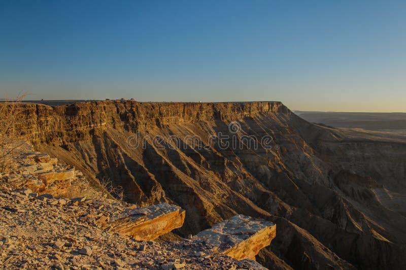 Afrikaanse landschappen - de Canion van de Vissenrivier, Namibië royalty-vrije stock fotografie