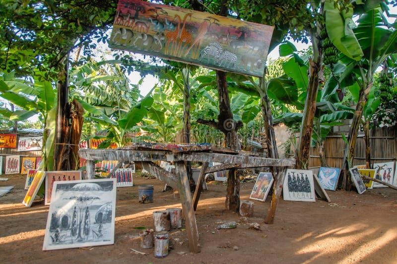 Afrikaanse landschappen - het Nationale Park Tanzania van Meermanyara stock afbeeldingen