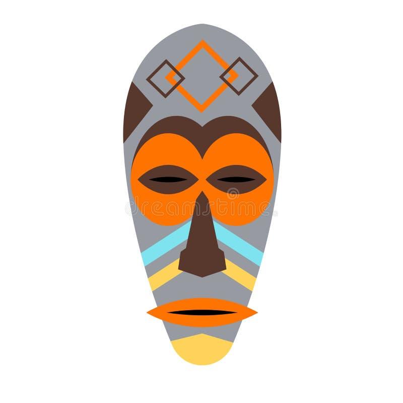 Afrikaanse masker vectorreeks royalty-vrije illustratie
