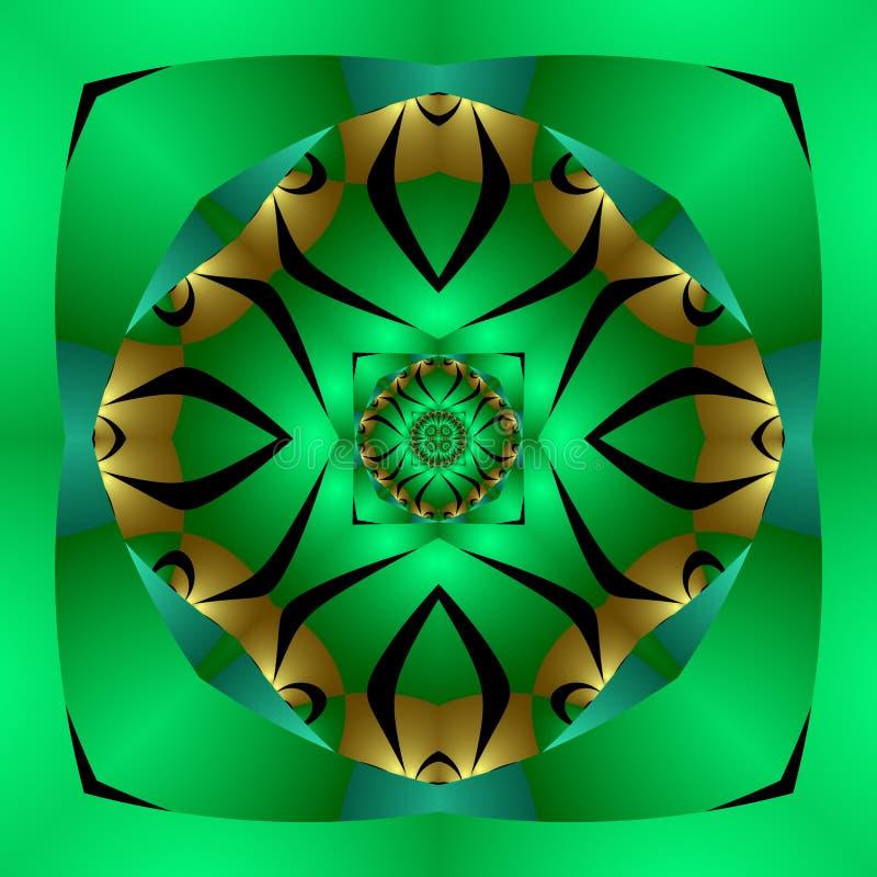 Afrikaanse meditatiemandala royalty-vrije illustratie