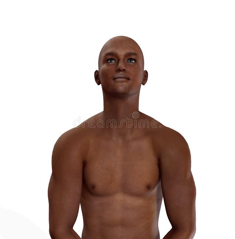 Afrikaanse Mens stock illustratie